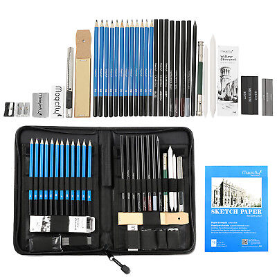Pencil Charcoal Drawings - 41Pcs Professional Drawing Artist Kit Set Pencils and Sketch Charcoal Art Tools