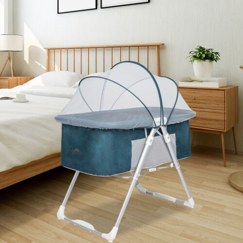 Baby Infant Bedside Bassinet Crib Cradle Nursery Carrier Newborn Sleeper 2in1