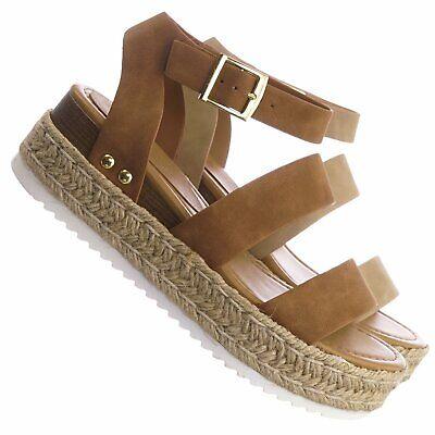 Soda Womens Open Toe Fashion Ankle Strap Buckle Platform Espadrille Sandal Shoes Buckle Open Toe Sandal