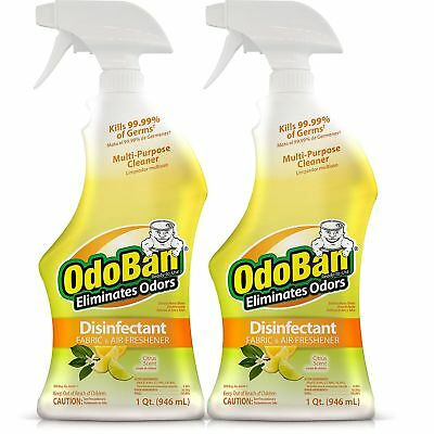 Scent Eliminator Spray Liquid - 2 pack | OdoBan | Odor Eliminator & Disinfectant Spray | Citrus Scent | 32oz