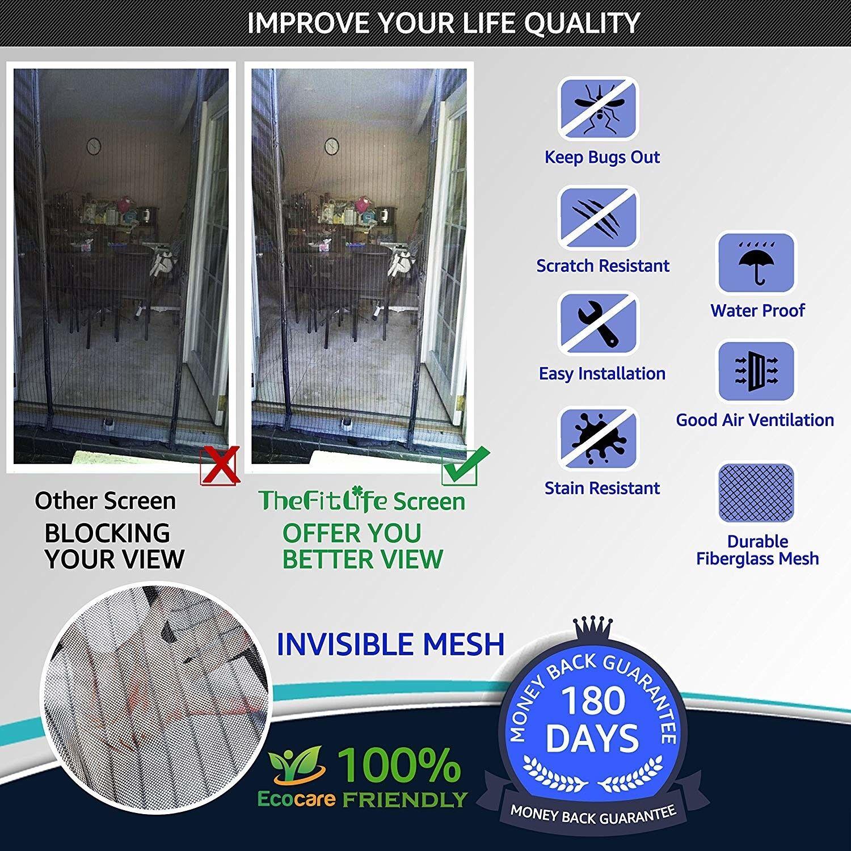 Heavy Duty Double Door Magnetic Screen Mesh Net Curtain Remo
