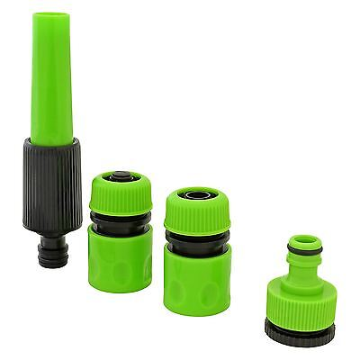 Outdoor Garden Spray Hose Nozzle Set Tap Fitting Connector Adaptor Hose Pipe