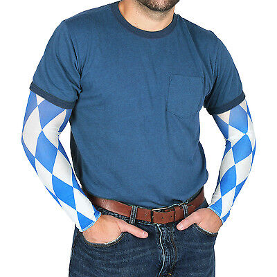 Oktoberfest Party Bavarian Themed Check Costume Sleeves - International Themed Costumes