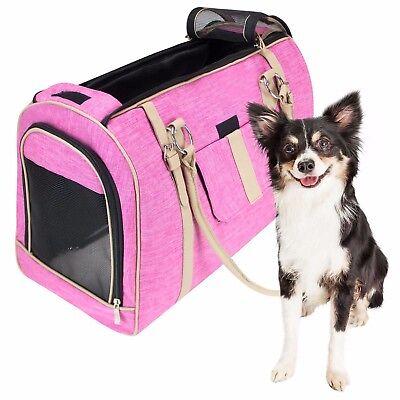 FrontPet Luxury Dog, Cat, Pet Travel Carrier, Tote, Handbag with fleece bedding
