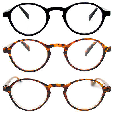 Retro Reading Glasses Classic Vintage Style Small Round Frame Men Women Readers (Mens Reading Glasses Round)