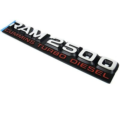 Mopar NEW Cummins Turbo Diesel Emblem Nameplate Badge for Dodge Ram 2500
