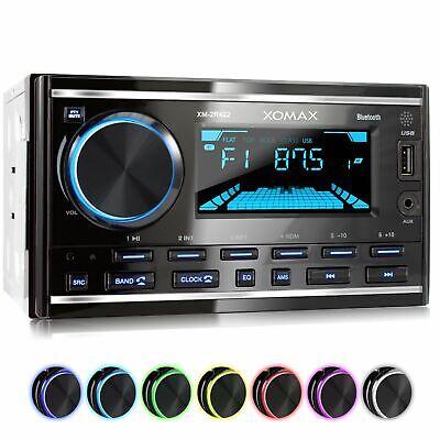 RADIO DE COCHE CON 7 COLORES BLUETOOTH MANOS LIBRES RDS USB AUX...