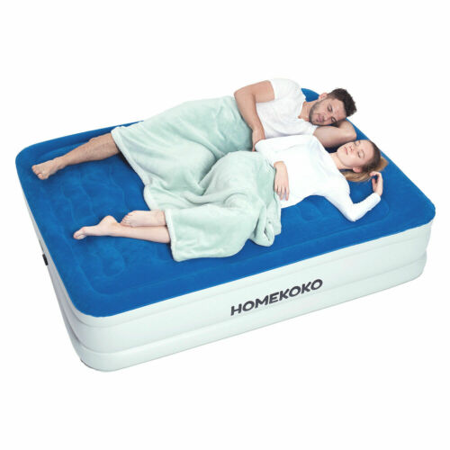 Air Mattress with Built-in Electric Pump and Pillow Queen Si