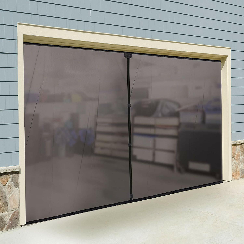 Double Garage Door Screen Magnet Bottom Insect Bug Mesh 16ft. x 7ft NEW 5