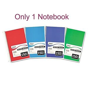 Mead College Ruled 3 Subject Spiral Notebook Brand New Item