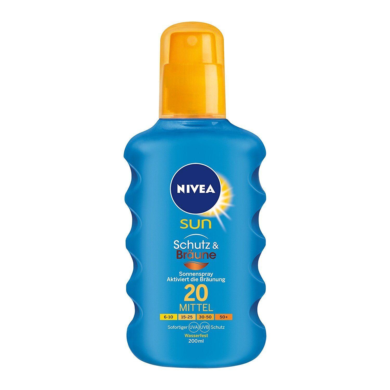 Nivea Sun Schutz & Bräune Sonnenspray LSF 20 mittel 200ml  Sonnenschutz UVA/UVB