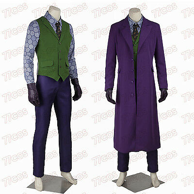 The Dark Knight Joker Heath Ledger Cosplay Costume Halloween Outfit Full Set](Heath Ledger Joker Costume Halloween)