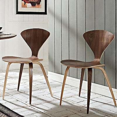 Stackable Dining Chair Set 2Pc Stacking Brown Office Cafe Restaurant Portable ()