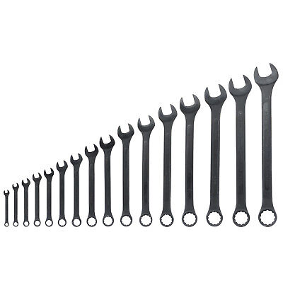 - 16 Pc SAE Raised Panel Combination Wrench | 1/4
