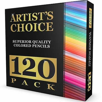 Artist's Choice Premier Colored Pencils - 120 Pack - Premium Quality BEST (Best Quality Colored Pencils)