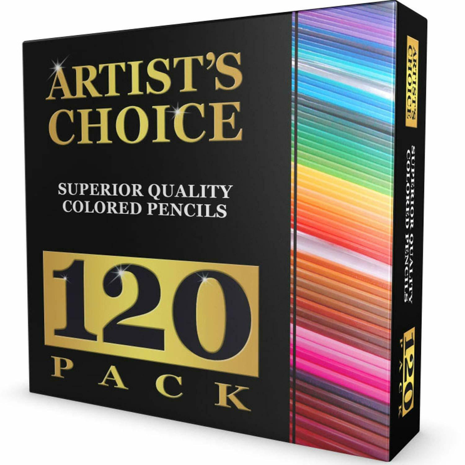 120 Colored Pencils GIANT SET Unique Colors Premium Kids & P