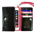 Leather Card Pocket Wallet Cases for iPhone 4