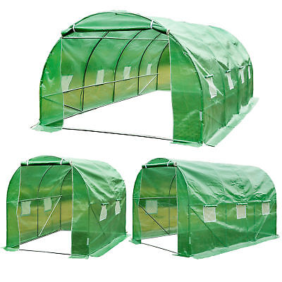Walk-in Poly Tunnel Green House Galvanized Frame Outdoor Garden Planting Shed