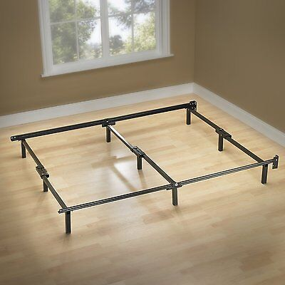 Bed Frame Assembly - Queen Size Bed Frame Metal Center Support Platform 9 Legs Steel EASY Assembly