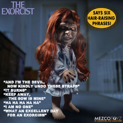 """Mezco 15""""  Mega Scale The EXORCIST Regan MDS Doll - 2018 - Says 6 Scary Phrases"""