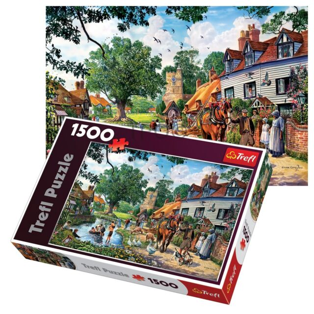 Trefl 1500 Piece Adult Large Quiet Country Idyll Cottage Floor Jigsaw Puzzle NEW