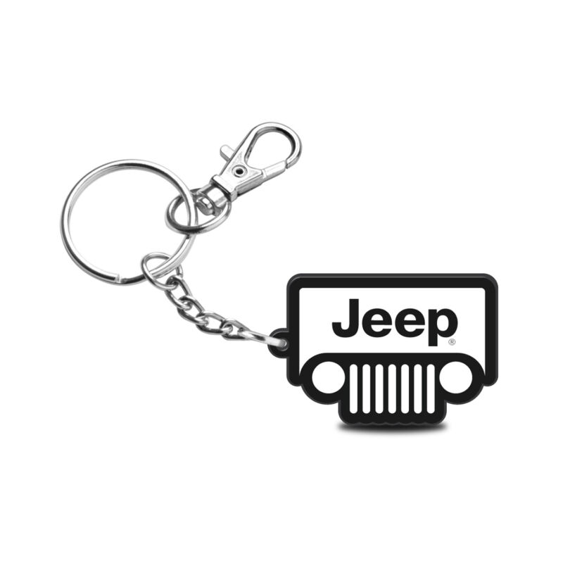 Jeep Grill Custom Laser Cut with UV Full-Color Printing Acrylic Charm Key Chain