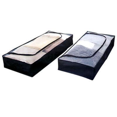 2er Pack Unterbettkommode 103x45x16cm | Unterbettbox | Unterbett Aufbewahrung