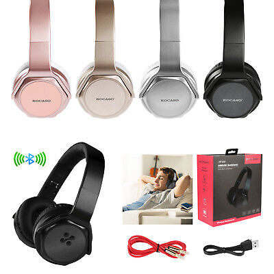 - Foldable Bluetooth Headphones Headset Stereo Mic Bass Earphone NFC FM SD Speaker