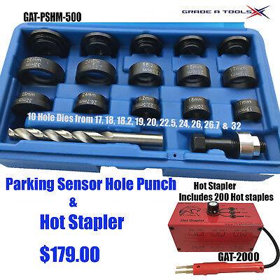 Parking Sensor Hole Punch & Hot Stapler