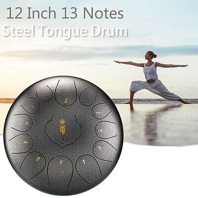 12inch 13 Note Steel Tongue Drum With 2 Mallets For Education Mind Healing U4W1