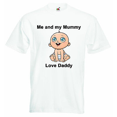 Me And My Mummy Love Daddy Personalized Baby Boys Girls T-shirt Clothing - Daddy And Me Clothing