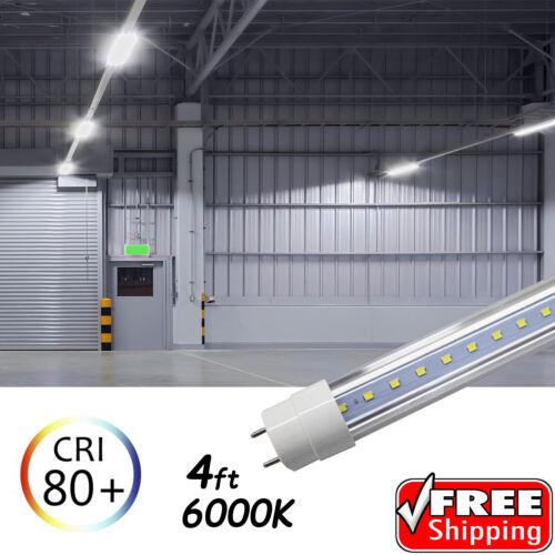 25 PACK LED G13 4FT 4 Foot T8 Tube Light Bulbs 18W 6500K Clear LENS Fluorescent
