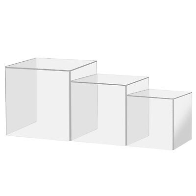 New Transparent Jewelry Acrylic Display Show Box Case Tray Stand Protection Cube