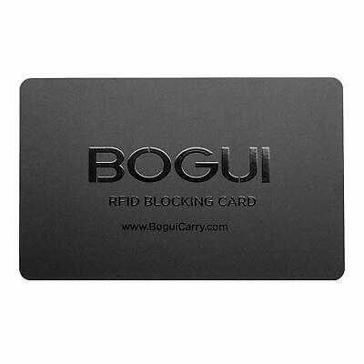 Bogui RFID-Blocking Card, Credit Card Theft Protection - Black