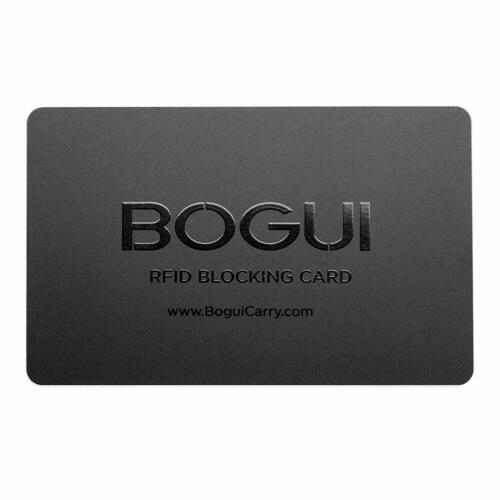 Bogui RFID-Blocking Card, Credit Card Theft Protection - Black