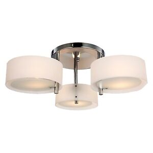Modern Acrylic Chandelier Ceiling Lamp Pendant Light Fixture Flush Mount Chrome