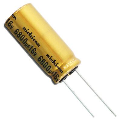 Nichicon Ufw Audio Grade Electrolytic Capacitor 6800uf 16v 20 Tolerance