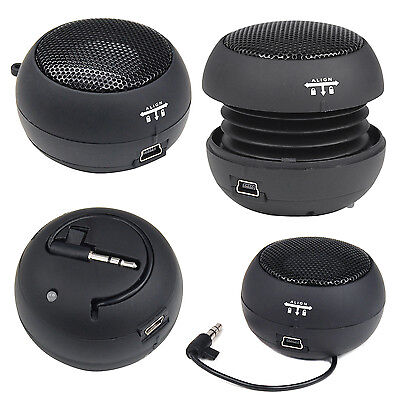 DIGIFLEX Black Mini Portable Travel Bass Speaker for iPod iPhone iTouch iPad MP3