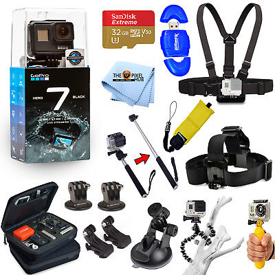 GoPro HERO7 HERO 7 Black All In 1 PRO ACCESSORY KIT W/ 32GB SanDisk + MUCH MORE