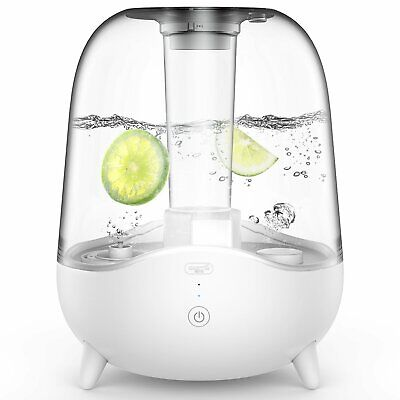 DEERMA 5L Ultrasonic Cool Mist Humidifier with Clear Transparent Water...