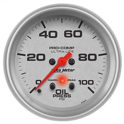 Autometer 4452 Ultra-Lite Oil Pressure Gauge 2-5/8 in., Electrical