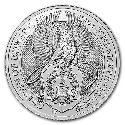 Special Price  2018 Great Britain 10 Oz Silver Queens Beast The Griffin