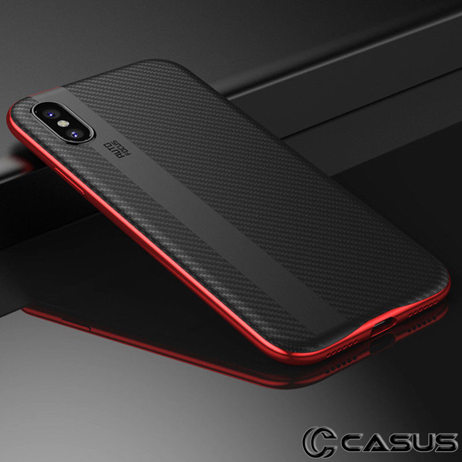 For iPhone X & 8/7 Plus Luxury Shockproof Slim Hard Protective Case Thin Cover