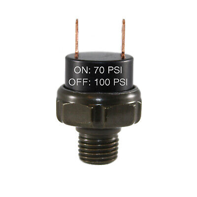 70-100psi Air Pressure Switch Tank Mount Thread 14 Npt 12v24v For Train Horn