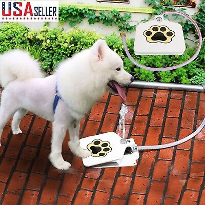 (Trouble-Free Dog Pet Drinking Doggie Activated Water Fountain Toy  41