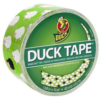 Printed Duct Tape Bah Bah Sheep - 10 Yards