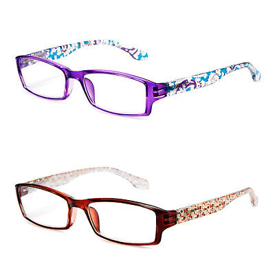 Translucent Color Reading Glasses Various Design Print Reader Brown (Colored Translucent Glasses)