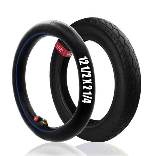 Heavy Duty 57-203 Bicycle Tire 12-1/2 x 2-1/4 & Bent Stem 12.5 x 2.25 Inner Tube