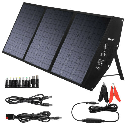 SUAOKI 120W Solar Panel Power Station Battery Charger Energy
