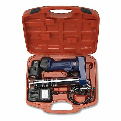 Cordless Rechargeable Grease Gun | 2 x 12V Battery Automotive Mechanics Tool
